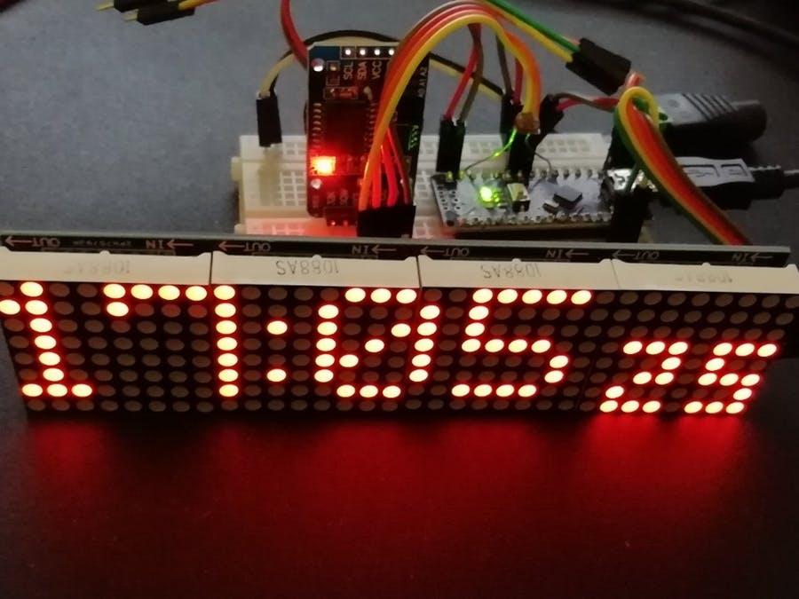 Arduino Nano时钟,带4x64 LED矩阵