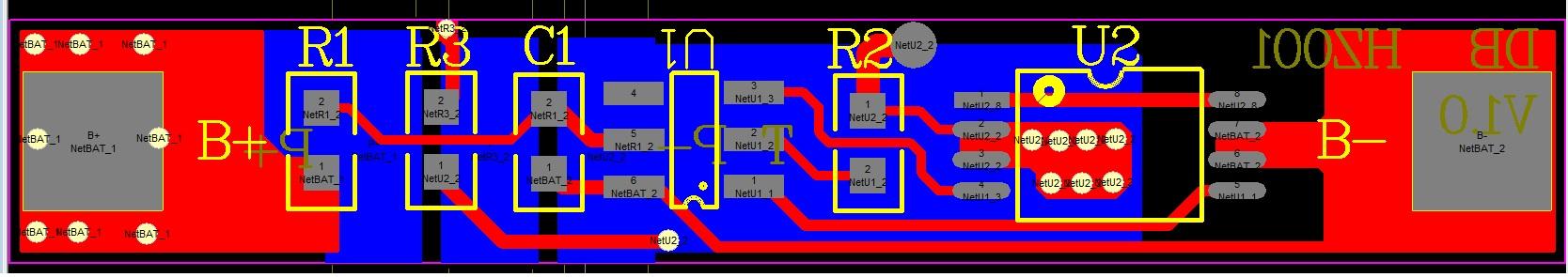 1节锂电池保护板