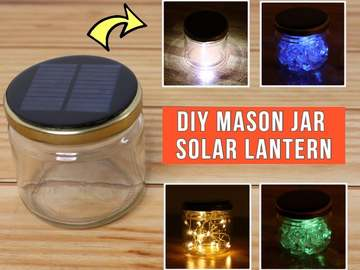 DIY梅森罐太阳能灯罐