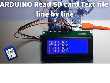 Arduino如何逐行读取SD卡文本文件