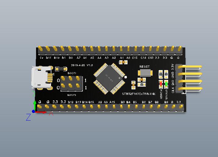 STM32F103C8T6核心板(原理图+PCB)