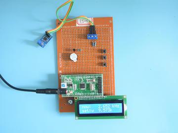 基于STM32单片机的数字频率计频率检测系统设计-万用板-电路图+程序+论文53