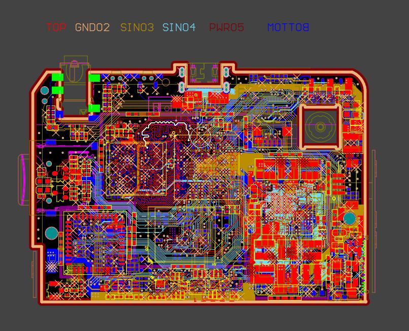 6層板設計 全志H8 VR一體機設計 原理圖+PCB