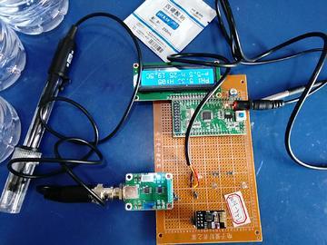 基于STM32单片机的水质检测仪设计-LCD1602-PH-DS18B20-(电路图+程序源码)