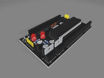 基于ATmega1284P的开源微控制器MEGA 1284P