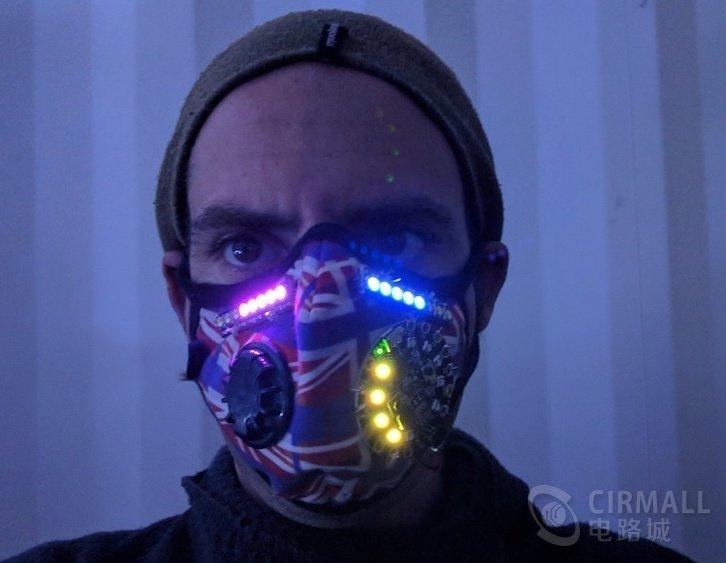 【国外开源】LED呼吸统计面罩