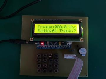 基于STM32单片机数控调频发射器的电路方案设计(pcb+源码+原理图)