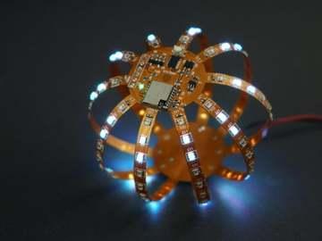 FLEXBALL-具有WiFi的百像素柔性PCB球