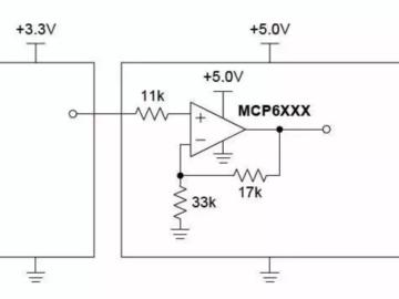 通过模拟增益模块实现3.3V转5V升压电路设计