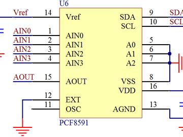 基于PCF8591模數轉換硬件接口設計