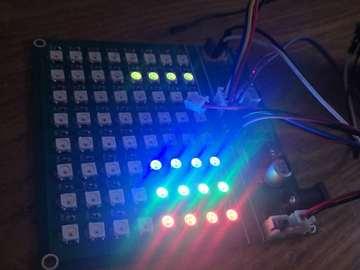 WS2812B+STM32  PWM DMA 8路pwm DMA  HAL库设计