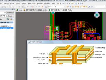 ADV7125数字GRB转差分VGA接口板电路设计方案(原理图+源码)