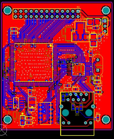 Spartan6 XC6SLX9-IP101 100M以太網FPGA開發板AD設計原理圖+PCB文件+VERILOG測試源碼