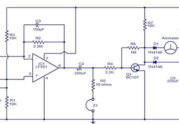 电路图赏析:一款可感应电磁场的传感器电路