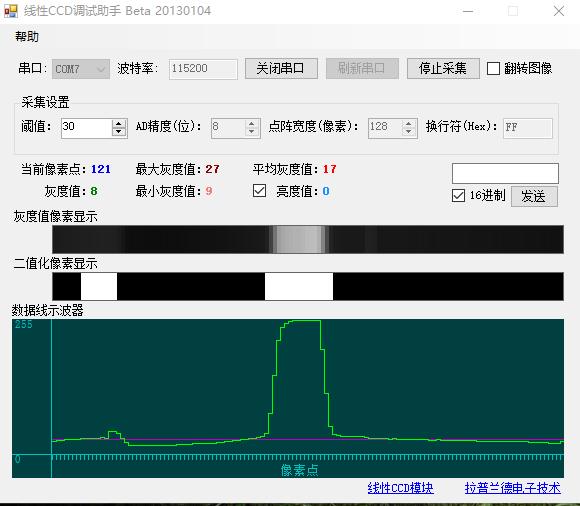 STM32F103驱动TSL1401线性CCD模块