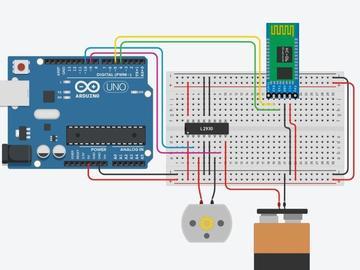 基于蓝牙的直流电机PWM和方向控制电路