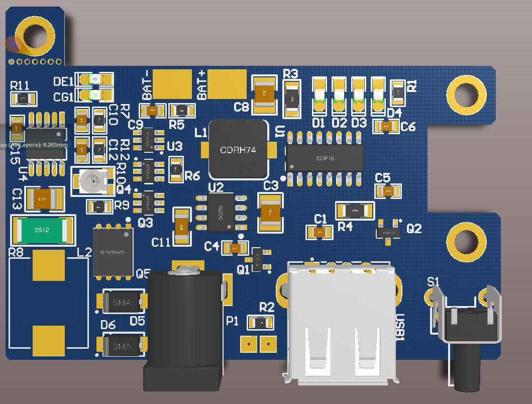 ZS6300移动电源 CN3791太阳能移动电源