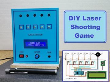 基于 Arduino Nano R3 的激光笔射击游戏
