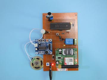 基于51单片机的校车安保安全监控声音热释红外GSM短信设计-万用板-原理图+PCB图+程序源码109
