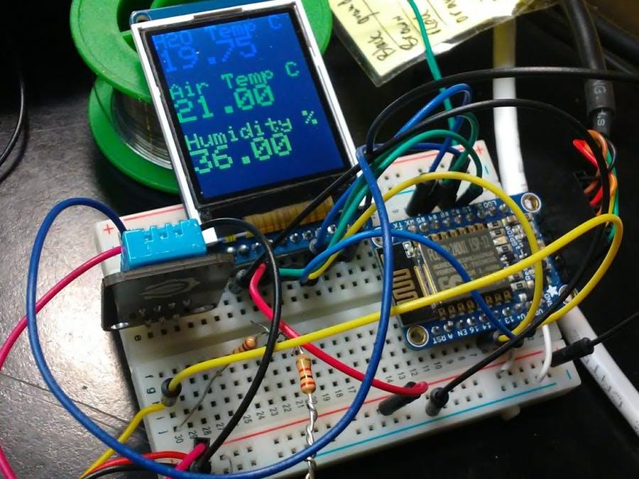 環境監測系統,使用ESP8266和MQTT監測水溫和氣溫
