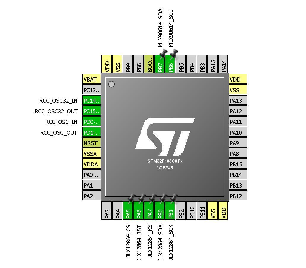紅外測溫儀 STM32單片機驅動MLX90614液晶顯示JLX12864