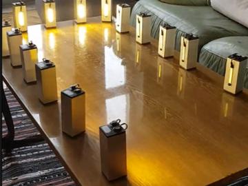 由Artnet(DMX)驱动的20个自主电池供电的高亮LED-无线LED控制装置电路设计