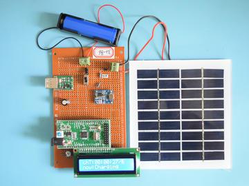 基于STM32单片机的太阳能锂电池智能充电计时系统设计-万用板-电路图+程序+论文86