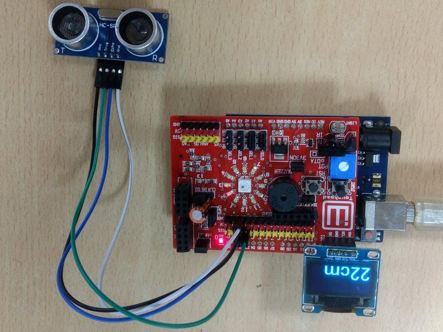 超聲波距離傳感器和顯示器