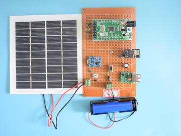 基于STM32单片机的太阳能无线路灯WIFI光照控制路灯APP设计-万用板-电路图+程序+论文63