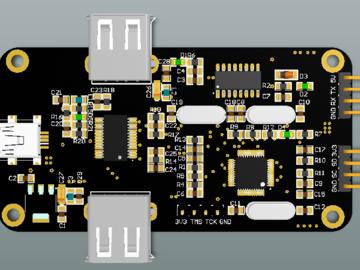 具有HUB_JLINK_CH340 功能的 硬件调试工具(原理图+源代码+jlink固件)