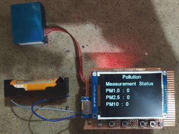 自制便携式空气质量监测仪