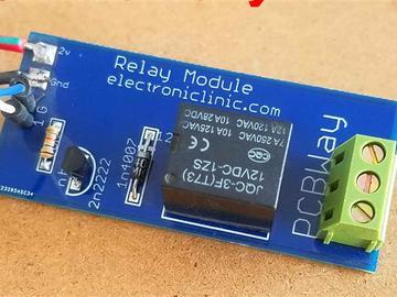 用于Arduino和其他控制器板的单通道中继模块