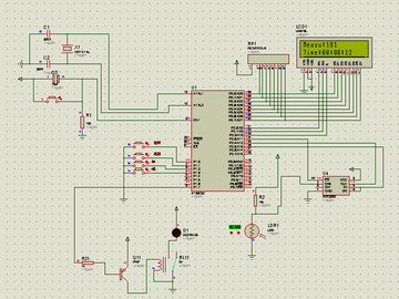 基于单片机光敏测量光照路灯控制系统(proteus仿真+源程序)