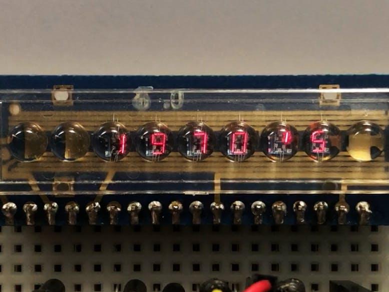 復古LED泡泡顯示器,七段六位數陣列