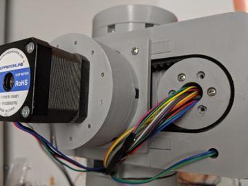 使用步进电机和3d打印的摆线针轮减速器设计的6轴机械臂