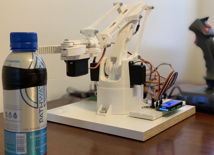 RoboARM:TI 3D打印机器人?#30452;? style=