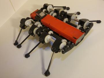 独特创意-无伺服电机的驱动的机器人蜘蛛战士方案设计