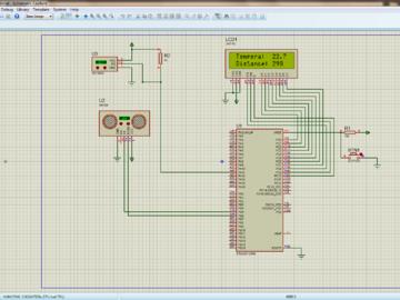 基于STM32的超声波测距仿真 HC-SR04(proteus仿真电路图+C语言代码)