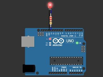 基于虚拟Arduino模拟器的闪烁LED