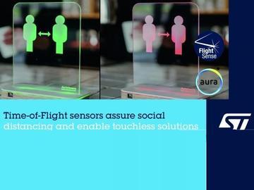 意法半导体TOF)技术助力研发便携式智能社交距离感知设备
