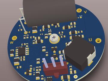 50w汽车电子水泵控制器电路方案(原理图+pcb)