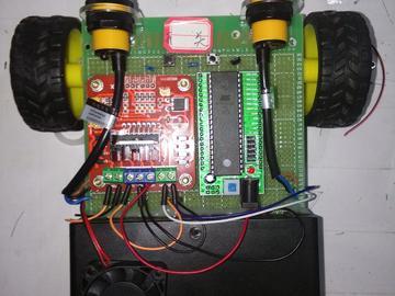 AVR16单片机的扫地智能车设计(原理图+源码+pcb+参考文档)