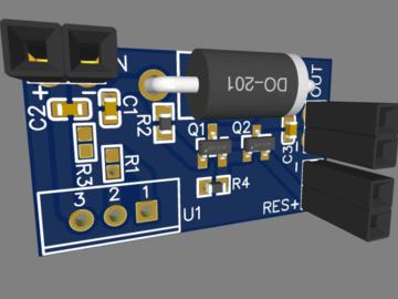 基于 LMS1587CT 稳压器的 DC-DC 转换器