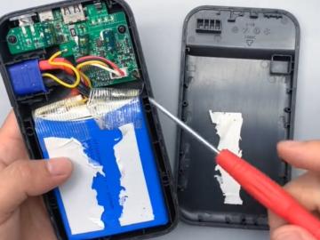 拆解高倍率电芯的汽车应急启动电源:巴掌大小输出500A电流,这工作原理绝了