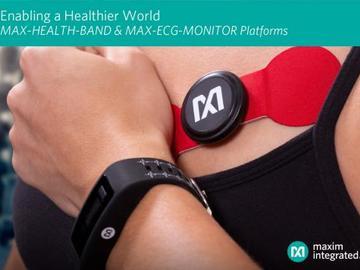 集成算法处理的高灵敏度健康传感器腕带参考设计方案--美信MAXREFDES103评测