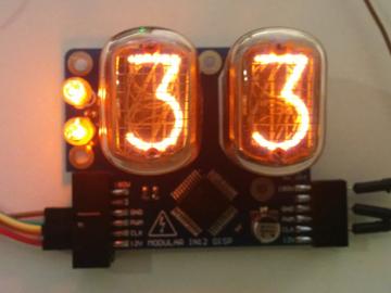 基于IN-12A的模块化数码显示板