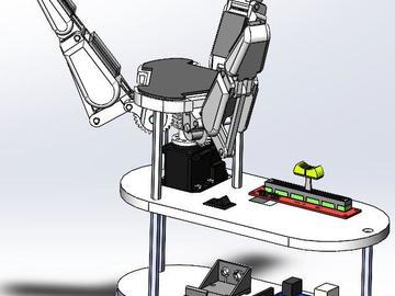 基于Arduino板开发的机器人三指夹持器