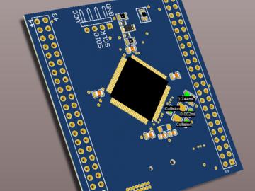 STM32F103R8T6最小系统原理图及PCB图纸