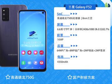 三星 Galaxy F52拆解:国产器件比例再度提高,首现国产射频方案