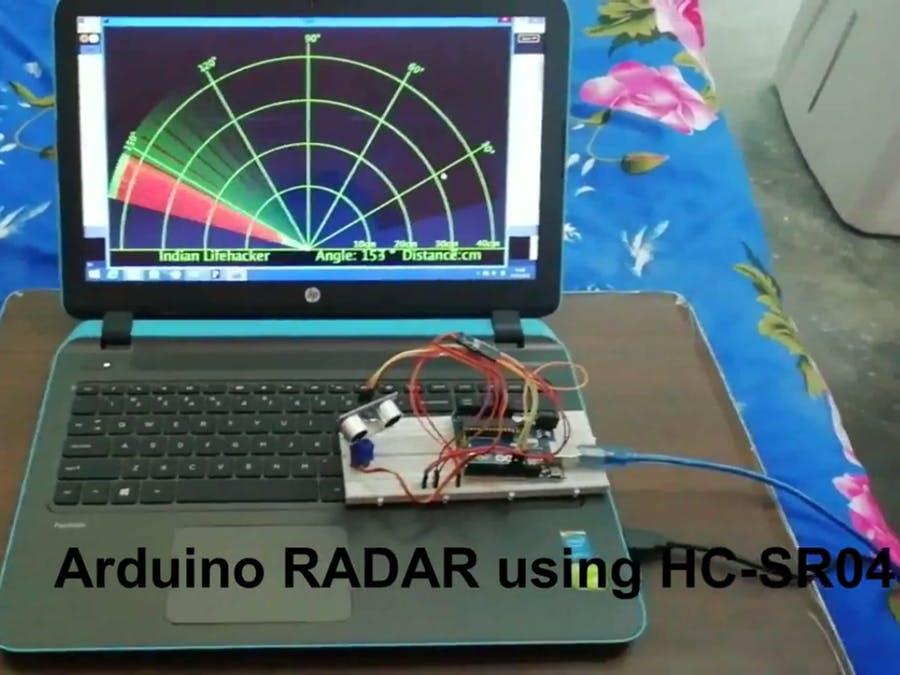使用超聲波傳感器和伺服電機的雷達系統